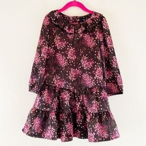 Baby GAP Spring Dress Brown Pink Silky Toddler